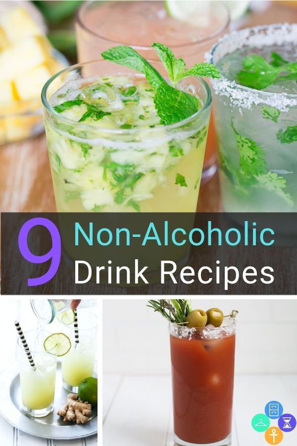 Non-Alcoholic Drink Recipes - Mocktails for Sober Living #nonalcoholicbeverages