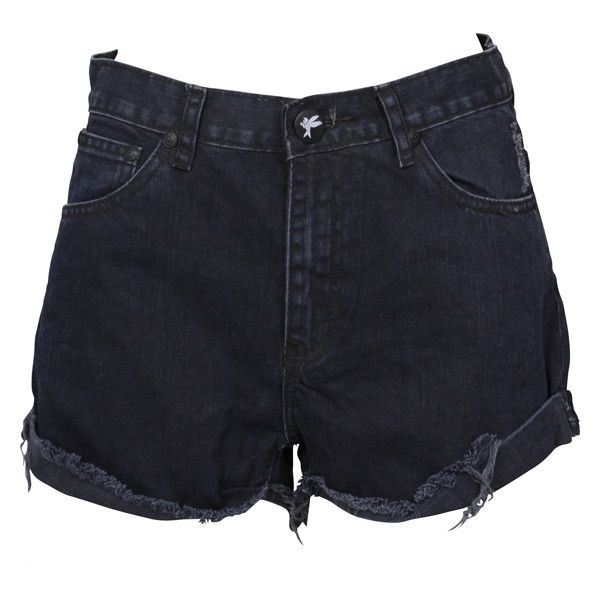 One Teaspoon Blue Black Hawks (165 BRL) ❤ liked on Polyvore featuring shorts, bottoms, pants, short, short shorts and oneteaspoon