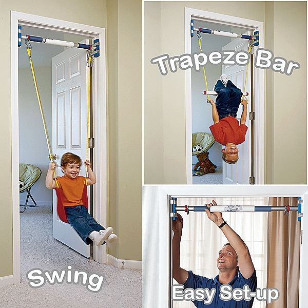 Rainy Day Indoor Swing Set Doorway Swing Indoor Trapeze Bar For