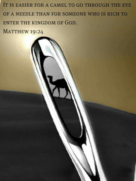 Resultado de imagen para MATEO 19:24