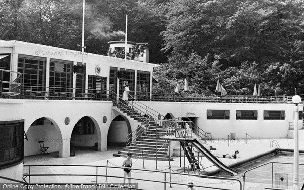 Photo Of Trentham Park Swimming Pool C1955 Bottle Kilns A Blast From The Past Stoke On