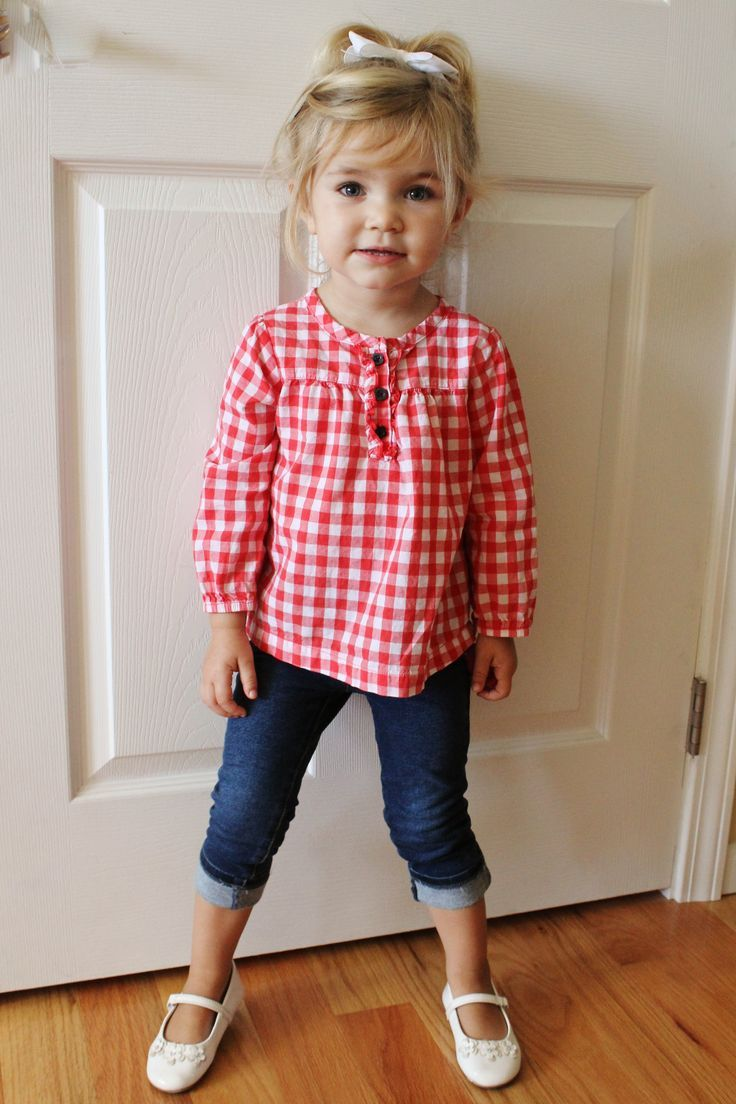 05b4d6d78 Carter s Red   White Checkered Shirt. The Children s Place Jeggings ...
