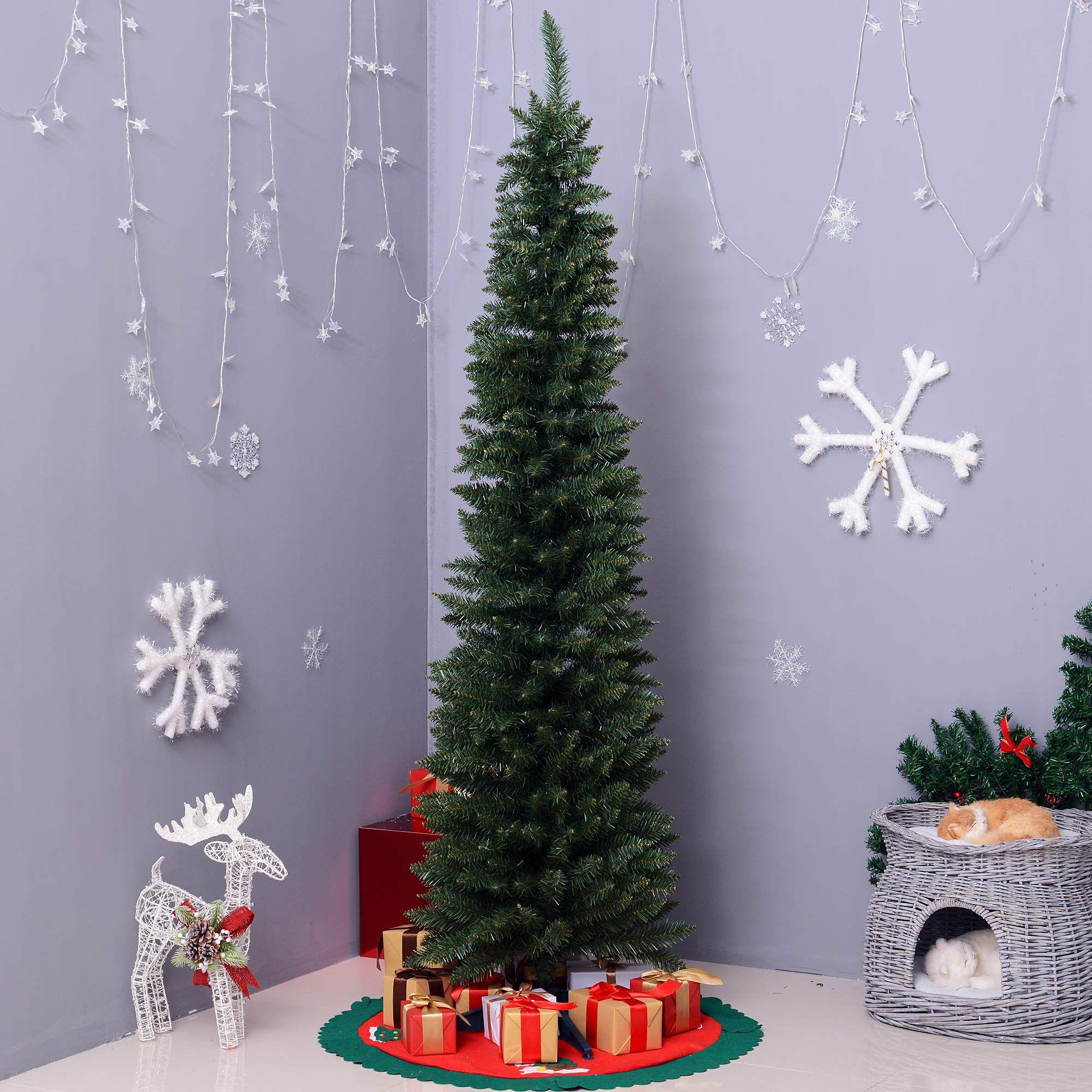 6' PVC Hinged Unlit Slim Artificial Christmas