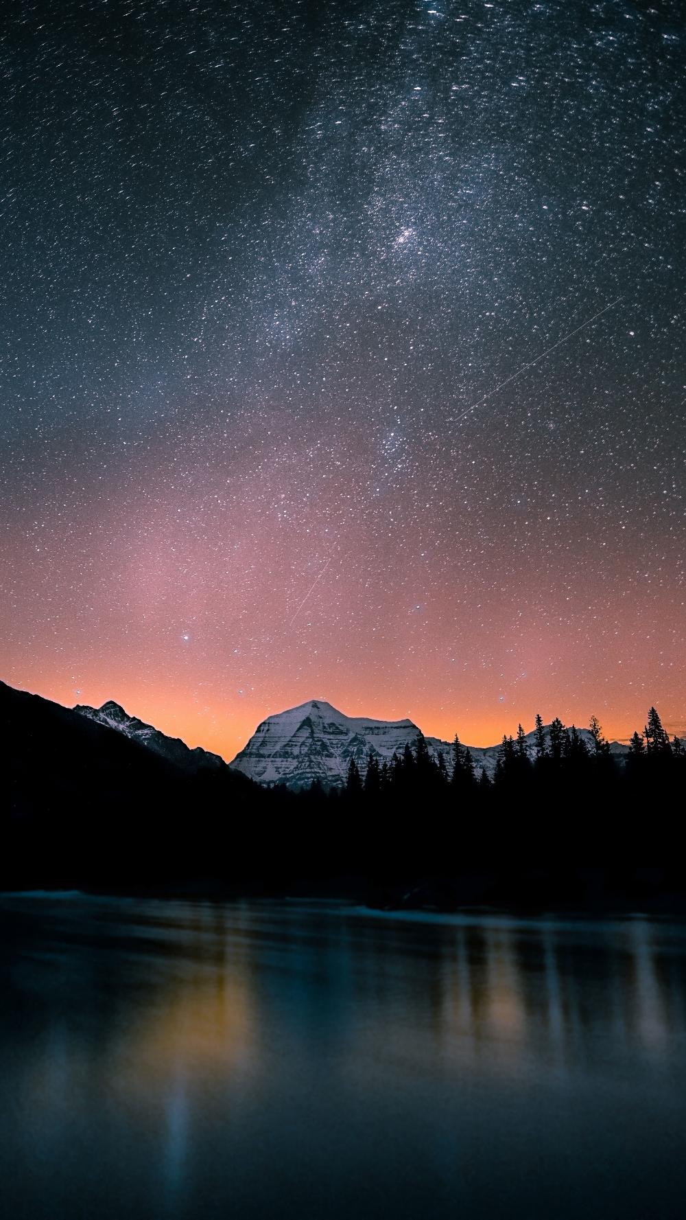 2160x3840 Night Mountain Top Lake Nature Wallpaper Nature Wallpaper Starry Night Wallpaper Scenery