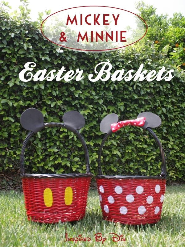 Diy mickey and minnie easter baskets easter baskets baskets and diy mickey and minnie easter baskets negle Choice Image