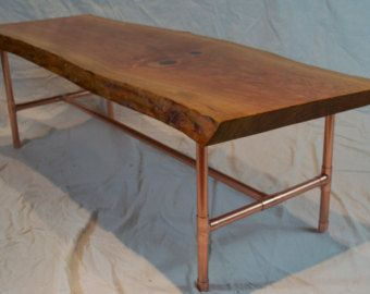 Dining Table With Copper Pipe Legs