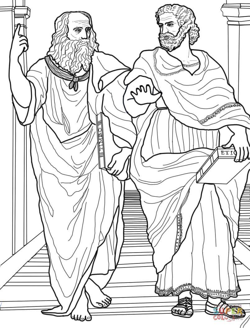 plato-and-aristotle-coloring-page.jpg (804×1052) | Imagenes de ...