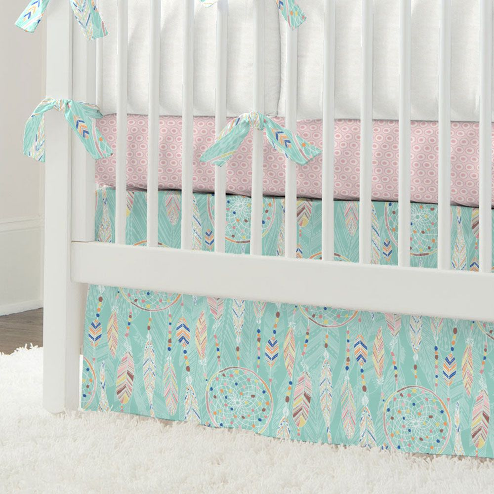 Dream Catcher Baby Bedding Fascinating Dream Catcher Crib Skirt From Carousel Designsget Your Crib Inspiration