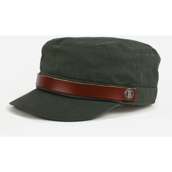 Brixton Busker Military Cap - Olive Green ( 34) ❤ liked on Polyvore  featuring accessories c300f290337