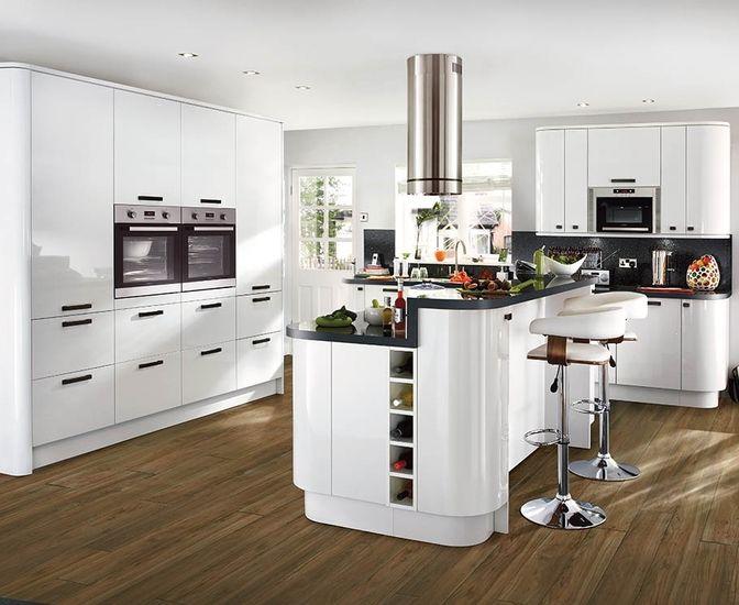 Best Kitchens White Contemporary Kitchen White Gloss Kitchen 640 x 480