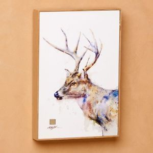 Dean Crouser 12 Watercolor Print Framed Canvas Wall Art Deer Deer Wall Art Canvas Wall Art Deer Art
