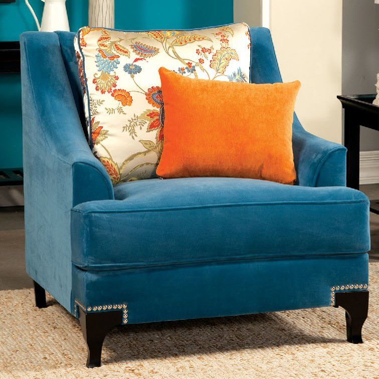Best Viscontti Armchair Blue Accent Chairs Upholstered 400 x 300