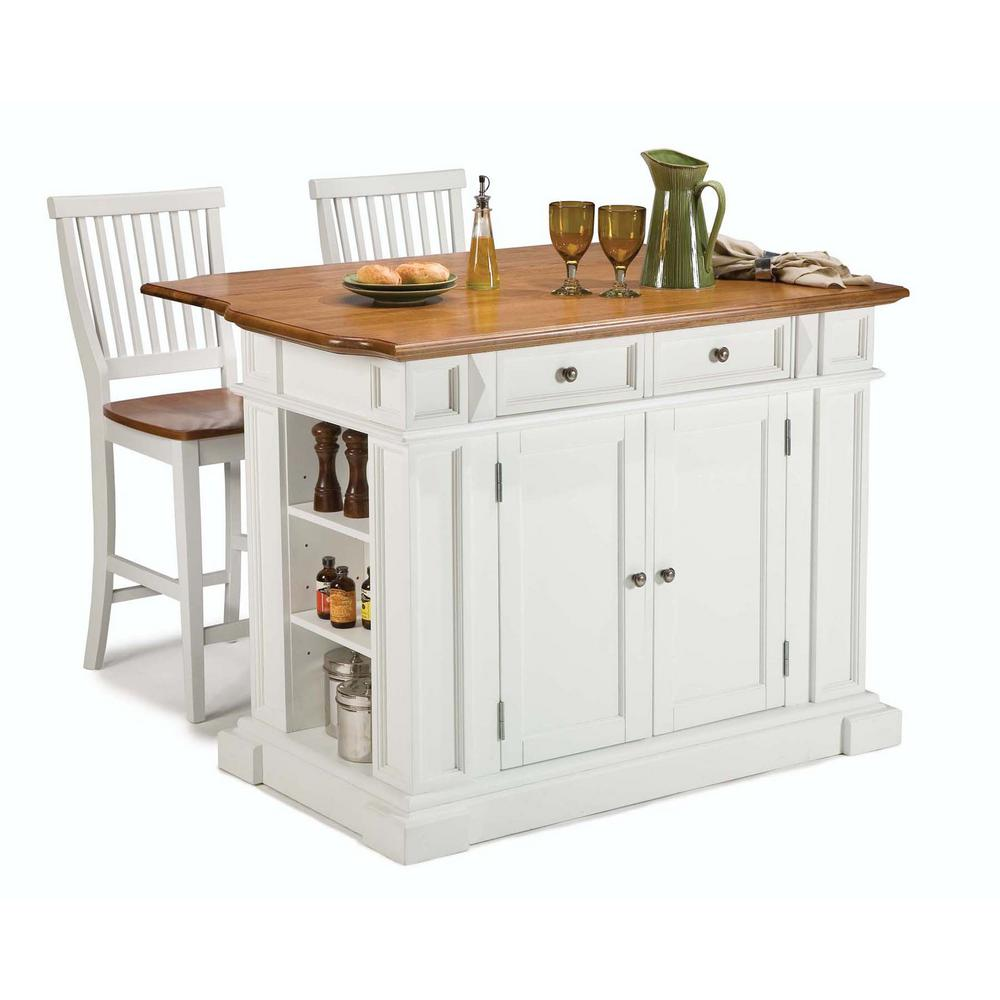 Home styles americana white kitchen island with seating 5002 948 the home depot