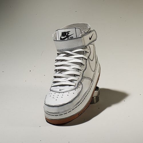 Paper Nike Air Force One mid... Buy your women's red Clarice Boots online