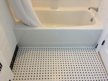 Ceramic White 4x4 With Black Cove Base Tile Listello And Accents
