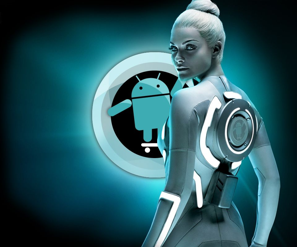 CyanogenMod Tron 3D Android Wallpaper Best Android