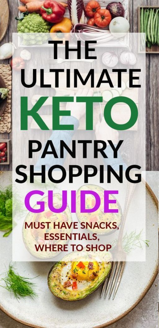 The Ultimate Keto Pantry Shopping Guide is the perfect list for beginners and veterans of the ketogenic diet. Includes links to the best sites that you can purchase high quality low carb organic products. A great resource for snacks sauces dressings meat vegetables - includes Walmart Trader Joe's & Target hauls #keto #guide #pantry #lowcarb #paleodiet