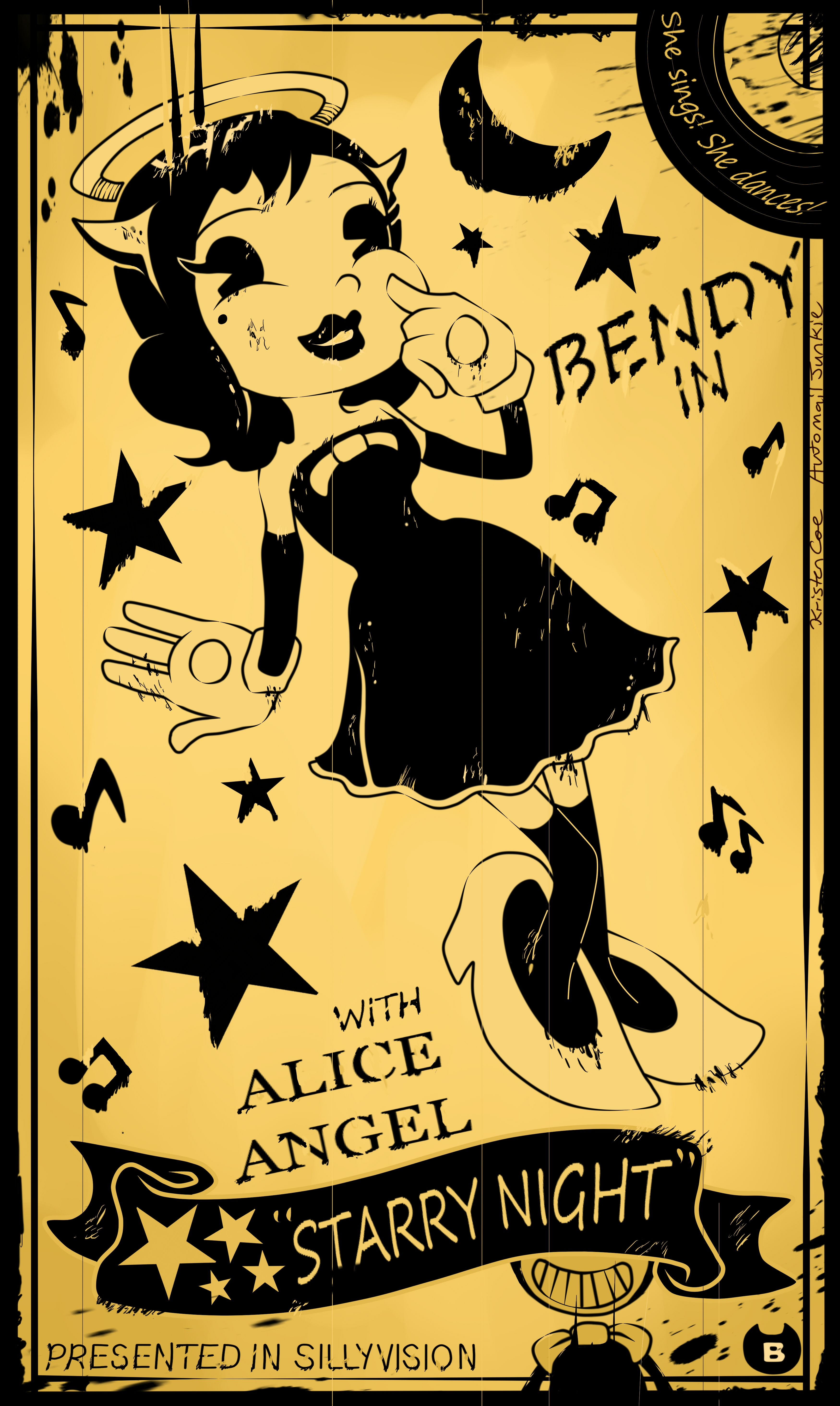 My Second Artwork For Bendy And The Ink Machine Alice Angel