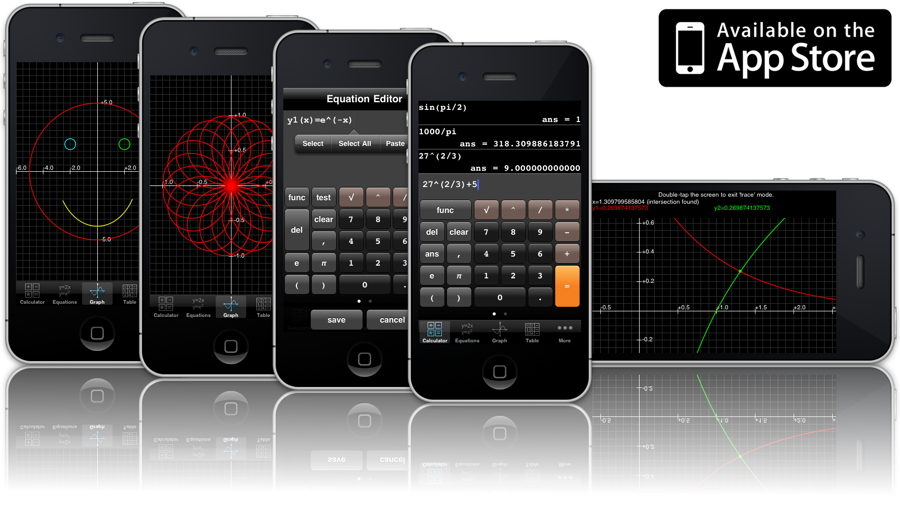 A graphing calculator phone app for your calculus and