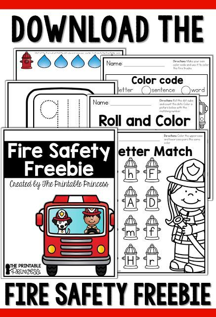 fire safety activities and centers for kindergarten for the kiddos homeschool fire safety. Black Bedroom Furniture Sets. Home Design Ideas