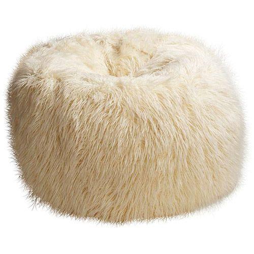 Flokati Faux Fur Beanbag Ivory