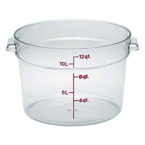 Camwear Polycarbonate Round Food Storage Container 12 Quart By Cambro 20 70 Stain And Odor Resistant To Food Ac Cambro Food Storage Food Storage Containers