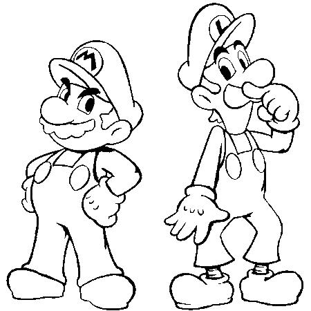 Dessin mario et luigi a colorier dessin colorier et - Coloriage de mario et luigi ...