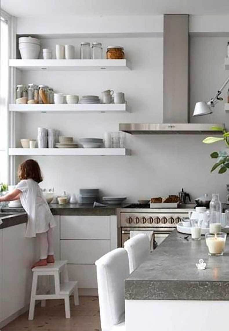 ikea white kitchen design lack shelves   Appart   Pinterest   Lack ...