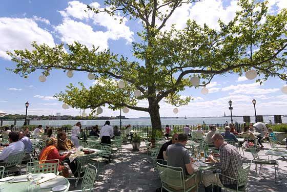 Battery Gardens Restaurant Inside Park Ny