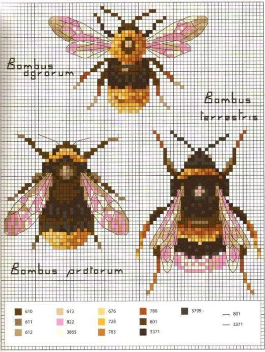 Bee Needlepoint Pattern | pune mbushje ,qendisje | Pinterest | Punto ...