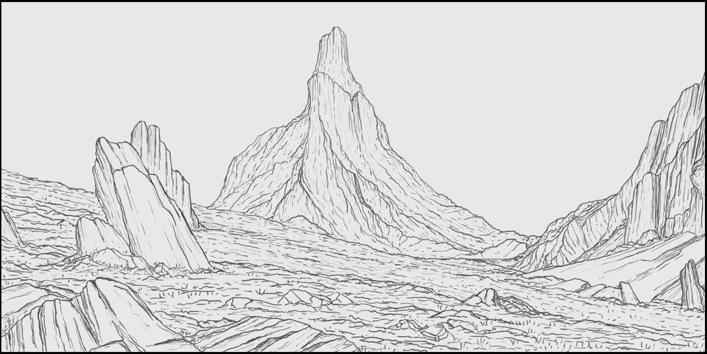 Line Drawing Landscape : Images of lineart landscape google search line art