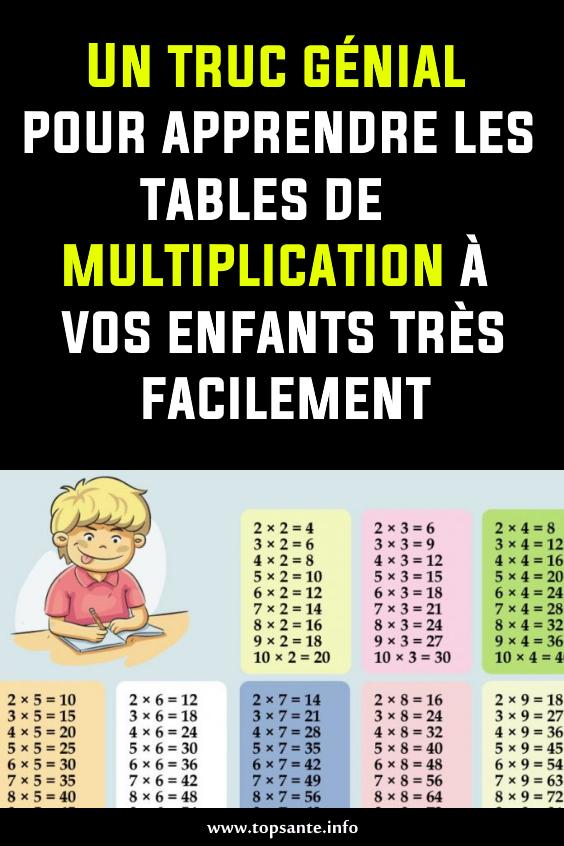 Un Truc Genial Pour Apprendre Les Tables De Multiplication A Vos Enfants Tres Facilement Education Multiplication Math