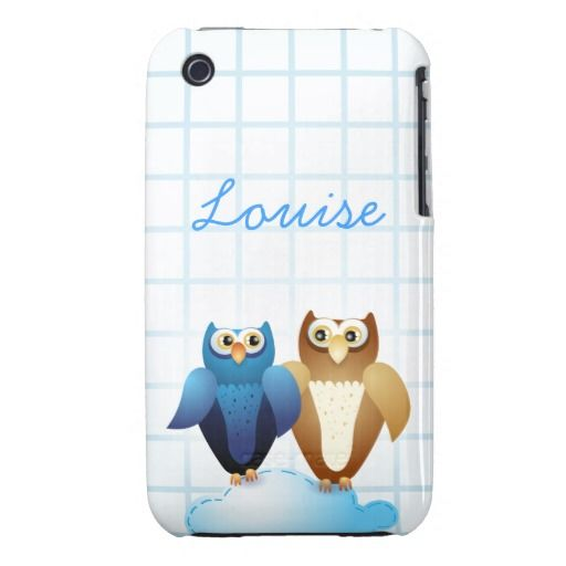 #Owls in Love and #monogram  iPhone #case by PinkHurricane
