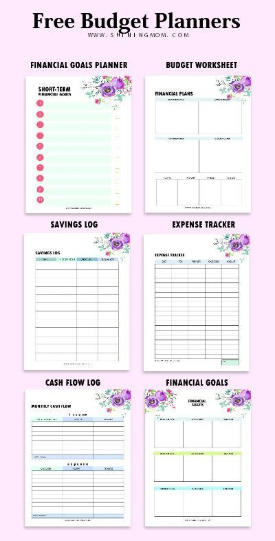 Budget Template Binder  Free Financial Worksheets  Printable