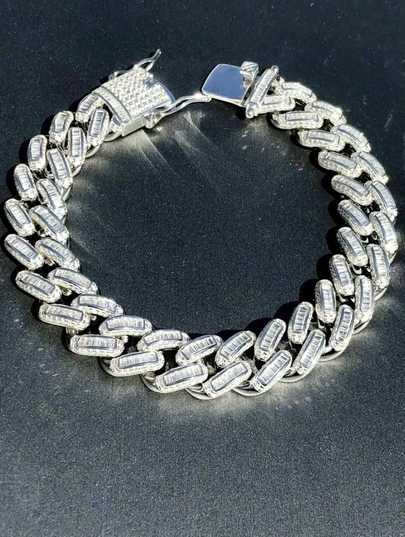 18k Gold 1 Row 12mm Simulated Lab Diamond Iced Out Chain Hip Hop Tennis Necklace Ebay Leather Gemstone Bracelets Diamond Jewelry Necklace Bling Necklace