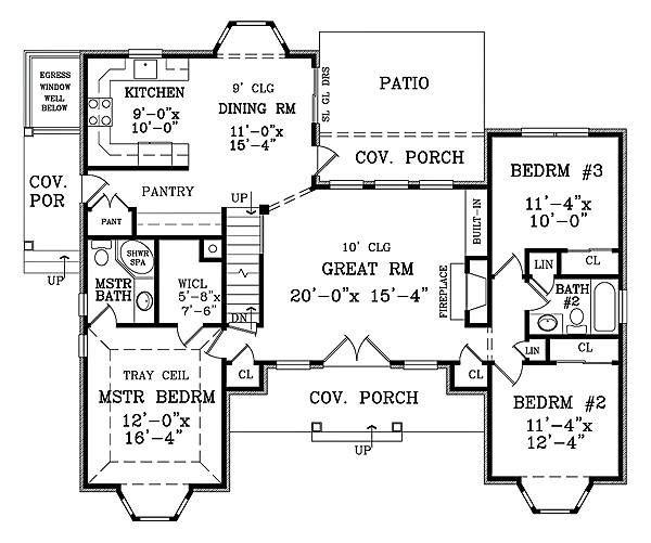 first floor plan image of lewisburg ii house plans
