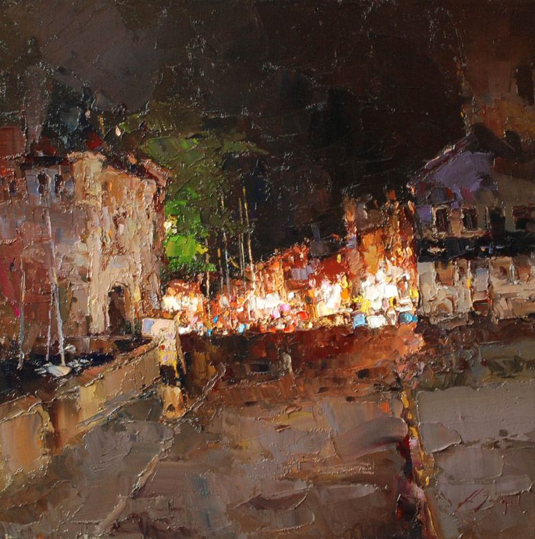 Port in Honfleur. France - Alexi Zaitsev - Sale of paintings and other art works