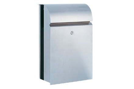 Serafini 6490 Mail Post Box- available in a brushed stainless steel ...