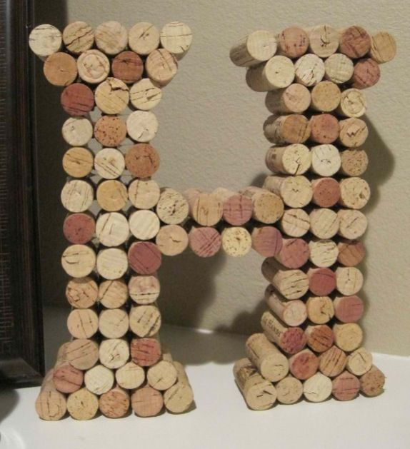 Save the corks from your champagne & wine bottles from the reception, and make the first letter of your last name using them.
