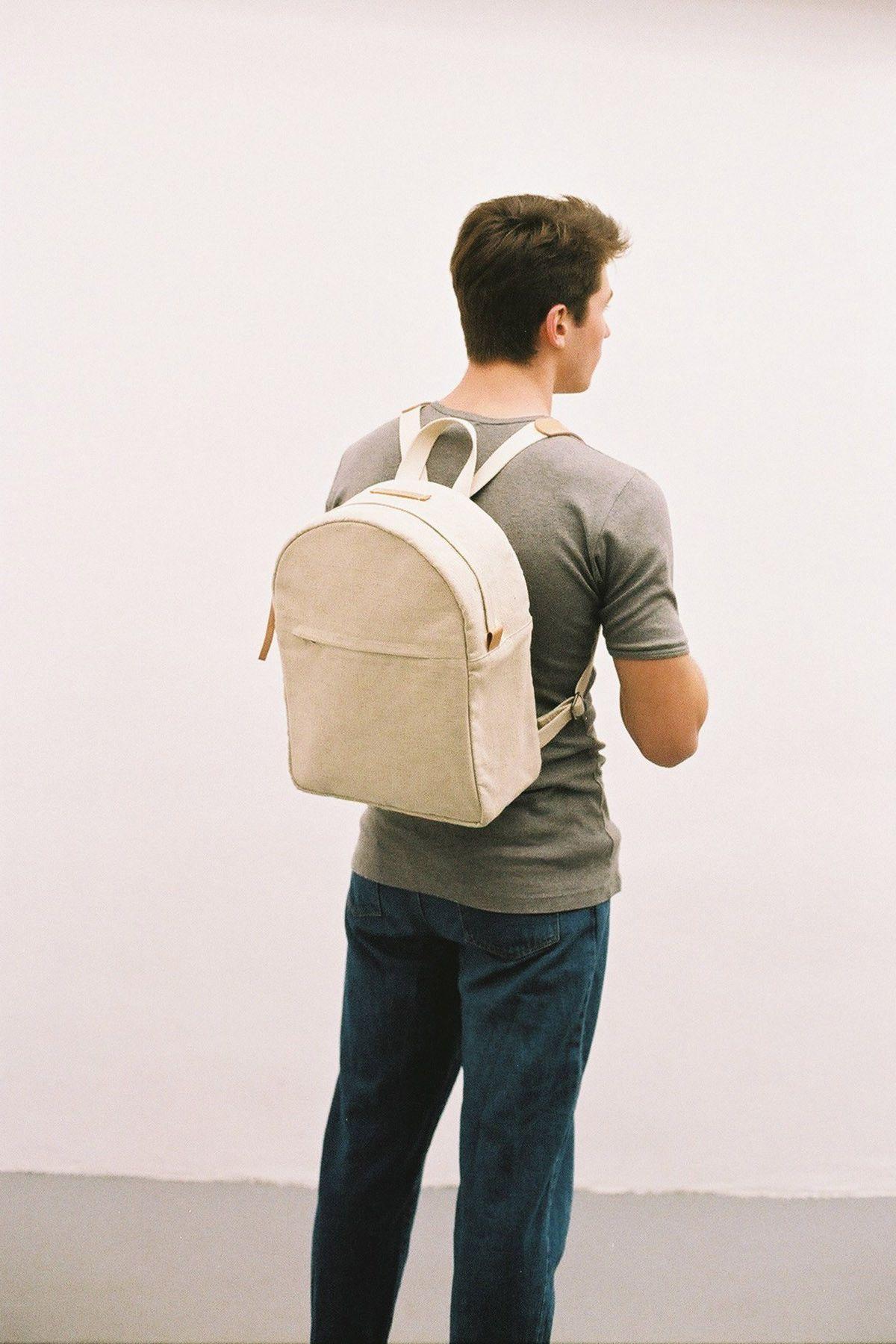 Boxy Backpack Natural Medium