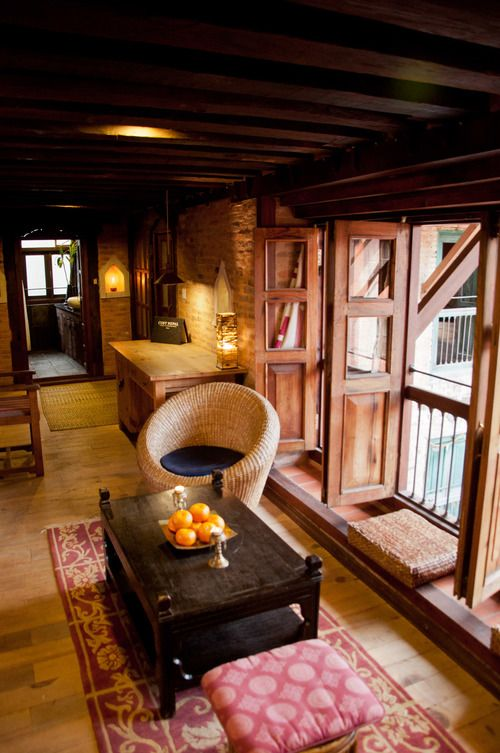 The Interiors Of This Modern Mexican House Open To: Bright View Of The Room. #Patan #Nepal #interior