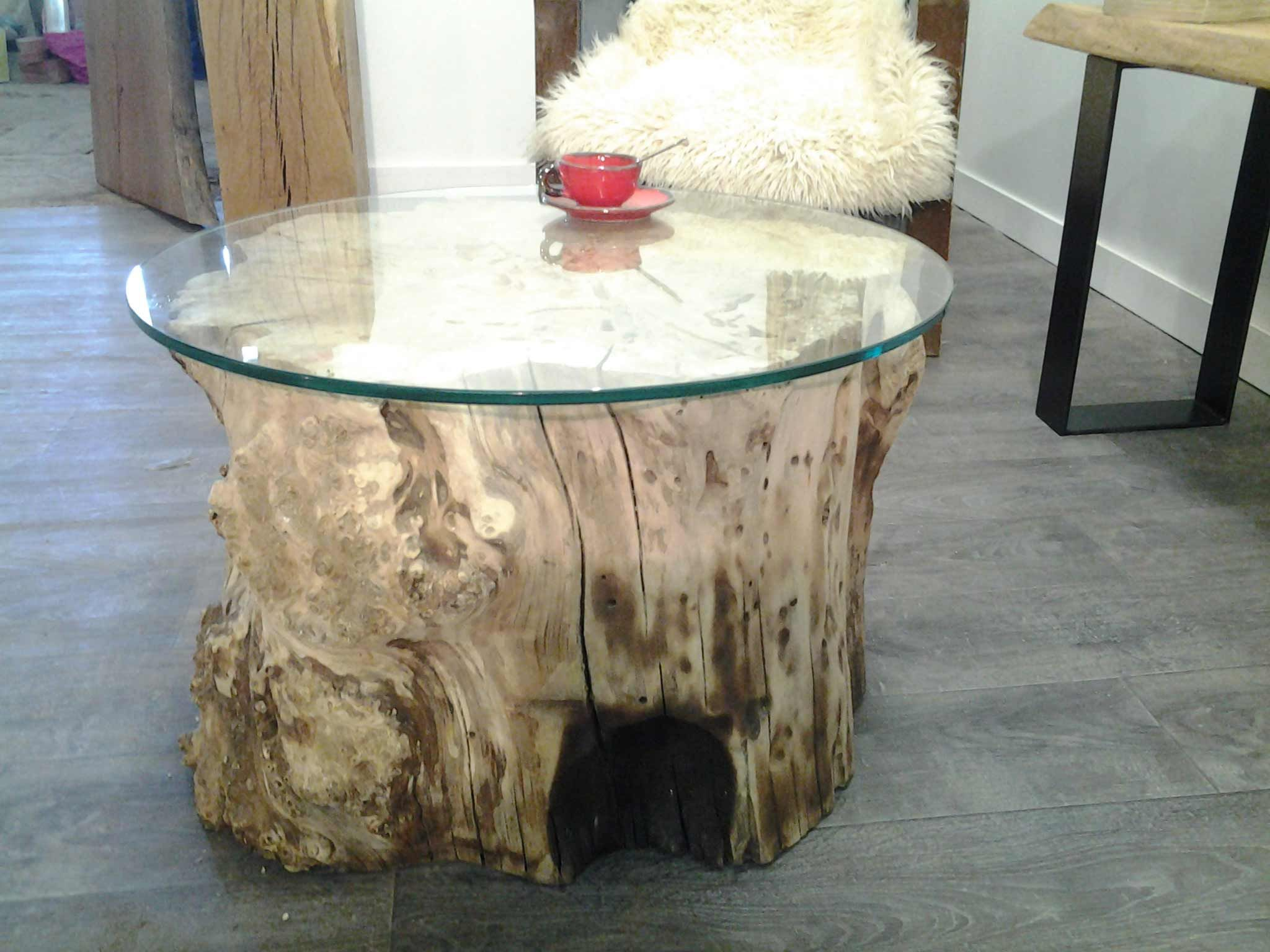 table basse peuplier, verre  tables basses  Pinterest  Wood tables, Tables