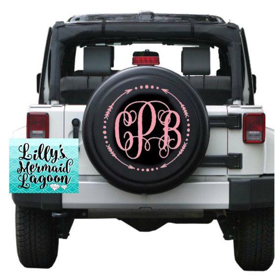 Monogram Tire Cover Monogram Jeep Tire By Lillysmermaidlagoon