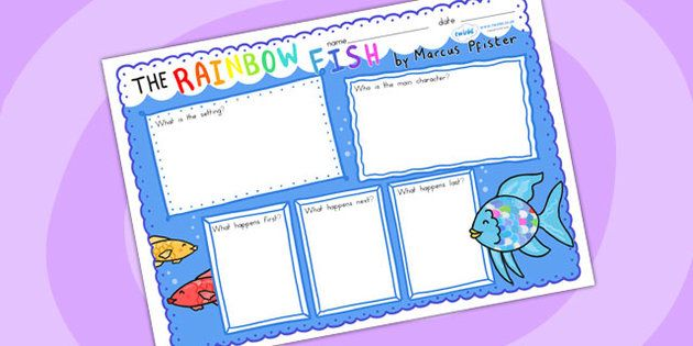 The Rainbow Fish Book Review Writing Frames book review
