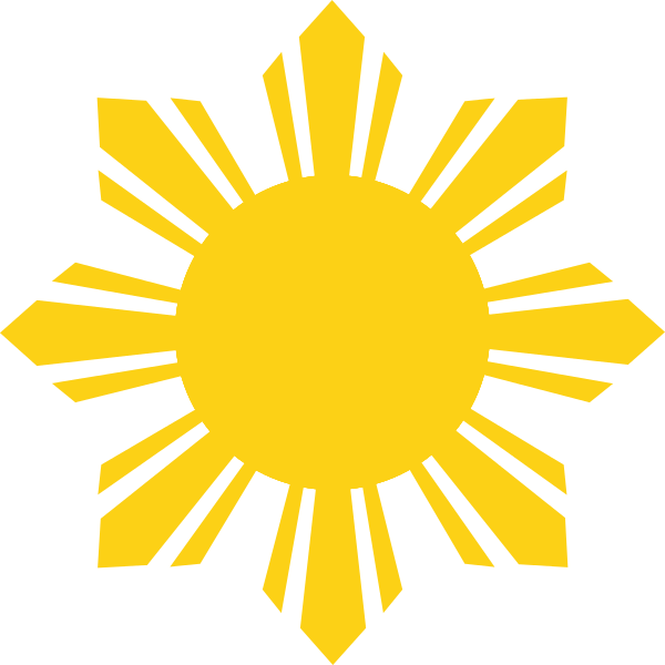File Flag Of The Philippines Cropped Sun Svg