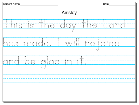 FREE Customizable Handwriting Worksheets | Ideas for the kiddos