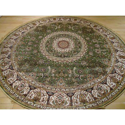 Astoria Grand Shanelle Living Room Hand Knotted Silk Green Rug Green Rug Persian Area Rugs Area Rugs