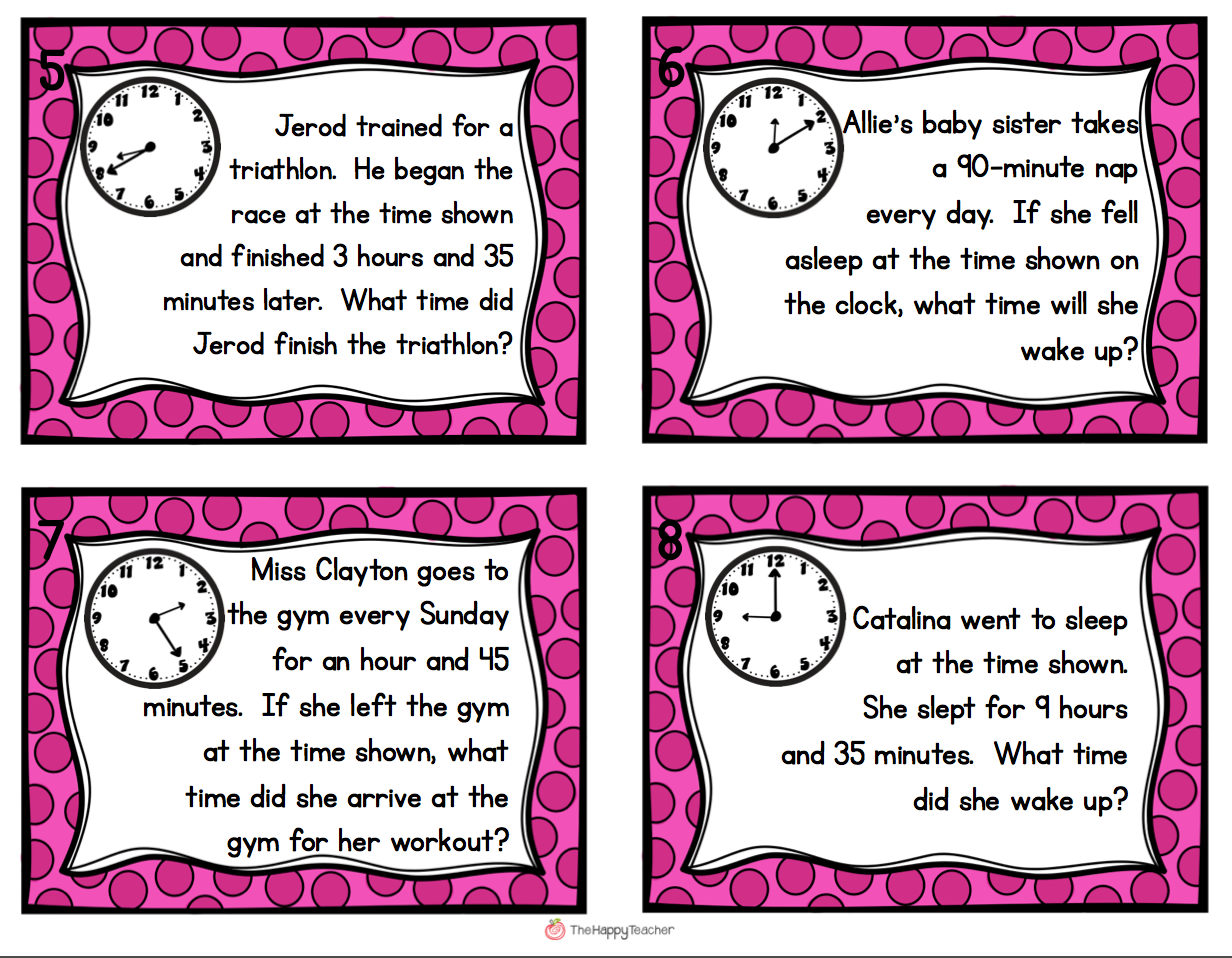 Time Word Problems Grade 3 Printable - time word problems worksheets ...