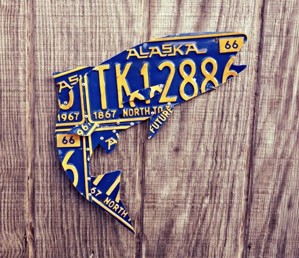 Alaska Vintage License Plate Trout By Licensetocraft On Etsy Https