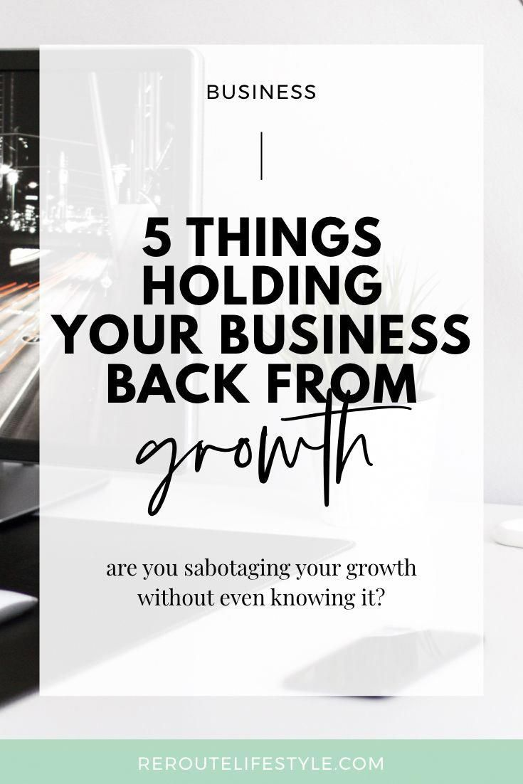 What are the things holding your business back? For more business tips visit leadingwomeninbiz.com